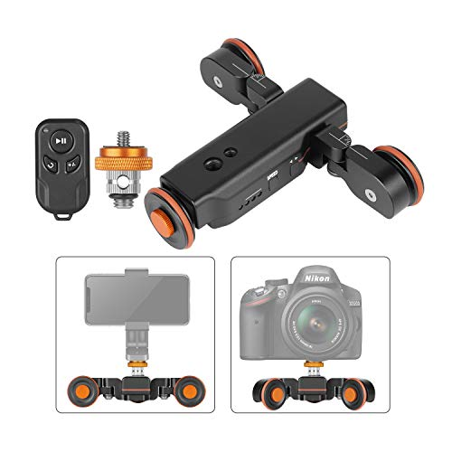 Neewer Motorisierte Kamera Video Dolly mit Wagenanzeige Elektrischer Schienen Gleider mit gerader Linie/Kurve/Tonhöhe Funk Fernbedienung für Canon Nikon Sony DSLRs und Telefone (Kamera Video-kamera)