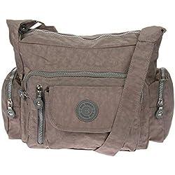 Bag Street Umhängetasche Bodybag Nylon (Braun2)