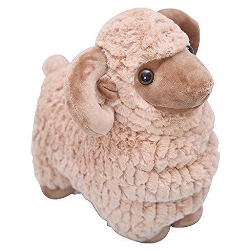 Babyspielzeug Kleine Schafe Puppe Kleine Alpaka Plüsch Spielzeug Ziege Ragdoll Kissen Kinderzimmer Tier Spielzeug (Color : Brown, Size : 27cm)