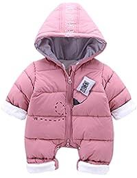 Bebé Traje de Nieve Ropa de Invierno Mameluco con Capucha Pelele de Algodón 3-18 Meses