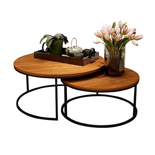 ZRXian-Kaffeetische Mid-Century Satztische aus natürlichem, umweltfreundlichem Holz für kleine Loftapartments, 2er-Set