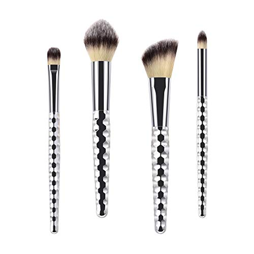 Pinceau de Maquillage 4pcs Maquillage Brosses Ensemble Make Up Brosses Fondation Sourcils Eyeliner Blush Cosmétique Concealer Brosses Professionnels Maquillage Brosses