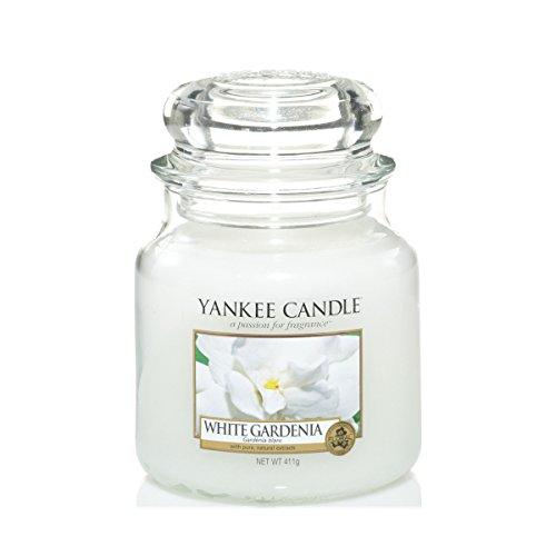 Yankee Candle Duftkerze im Glas 'White Gardenia', 411 g