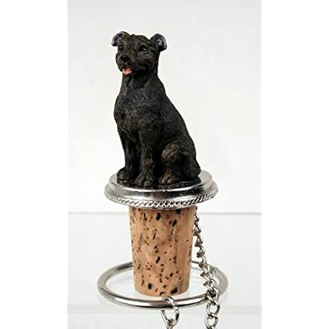 Staffordshire Bull Terrier Brindle Wine Bottle Stopper - DTB48 by Conversation Concepts
