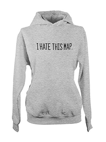I Hate This Map Real Life Gamer Femme Capuche Sweatshirt Gris