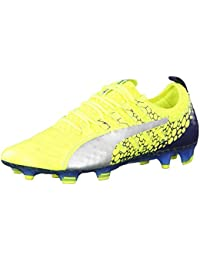 Puma EVOPOWER VIGOR 3 GRAPHIC FG - Chaussures de foot à crampons jaune fluo Jr8Ms