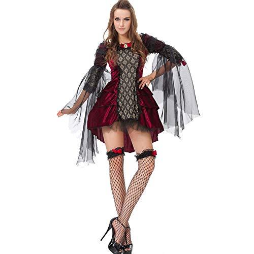 Joker Kostüm Der Weibliche - AIXIAOYU Weibliche Rolle der Halloween-Kostüme, die Vampirsteufel-Balluniform spielt