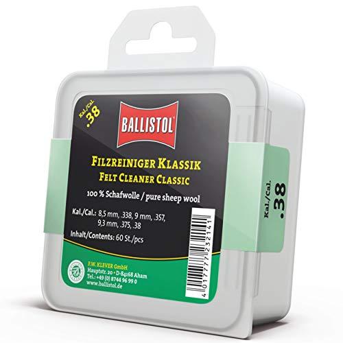 BALLISTOL Filzreiniger Klassik Zur Laufreinigung Und Waffenpflege Kaliber 9 mm / .38-60 Stück