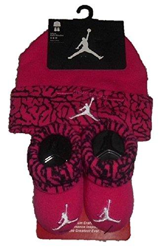 Nike Jordan-2Stück-Schuhe & Mütze, 0–6Monate, Baby Boy/Girl Fuchsia Pink.