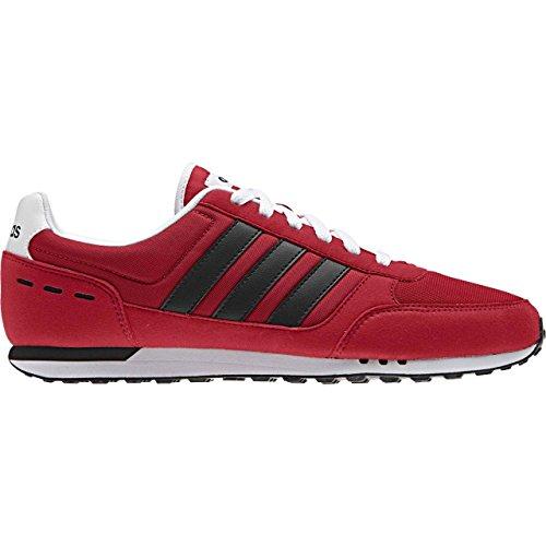 adidas Neo City Racer, Chaussures de Tennis Homme Rouge (Escarl/negbas/ftwbla)