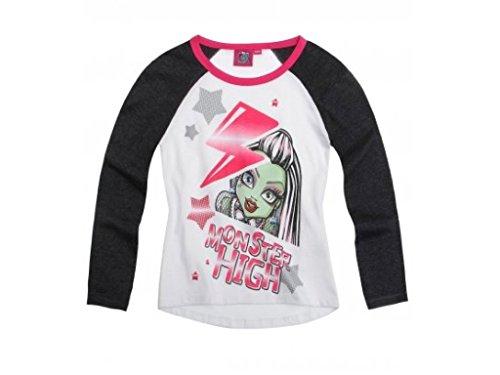 Monster High Langarmshirt in 3 Varianten Weiß/Schwarz