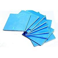 Color azul 100x 100mm x 0,5mm GPU CPU disipador de calor de refrigeración térmica conductiva de silicona Pad