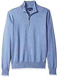Buttoned Down Supima Cotton Quarter-Zip Sweater Pullover
