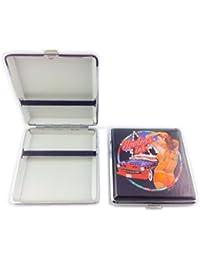 Etui rigide - boite en métal à cigarette avec illustration (différents modèles au choix) 9,2cm x 10cm x 1,8cm