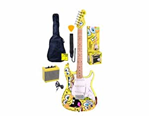 spongebob full size electric guitar outfit yellow musical instruments. Black Bedroom Furniture Sets. Home Design Ideas