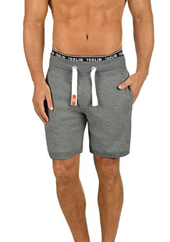 !Solid BennShorts Herren Sweatshorts Kurze Hose Jogginghose Mit Fleece-Innenseite Und Kordel Regular Fit, Größe:3XL, Farbe:Grey Melange (8236)
