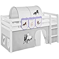 Hängetaschen Pferde Lila Beige - für Hochbett, Spielbett und Etagenbett preisvergleich bei kinderzimmerdekopreise.eu