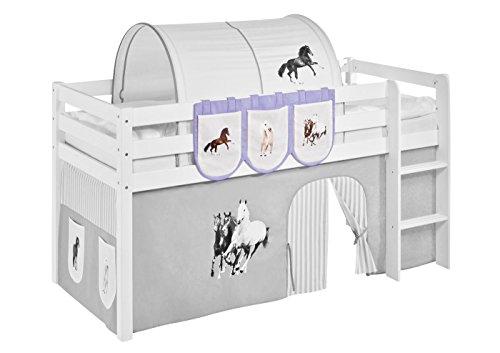 Hängetaschen Pferde Lila Beige - für Hochbett, Spielbett und Etagenbett