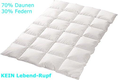 4-Jahreszeiten 70%-Daunen-30%-Federn-Bettdecke