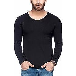 Tinted Men's Cotton Lycra Round Neck T-Shirt TJ104CLF-BLACK-M