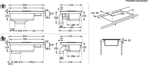 AEG ComboHob IDE84241I-B / Induktionskochfeld + Dunstabzug / Kochfeldabzug / Umluft & Hob²Hood / 83 cm breit - 3