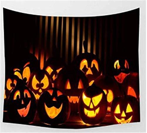 e Wandbehang Plane Gelb Kürbis Schwarz Halloween Geheimnis Traum Wohnzimmer Schlafzimmer Wand Vorhang Tischdecke Teppich, 150 cm * 130 cm ()