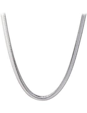 Styleziel Damen Halskette 925 Silber Schlangenkette flach 60cm lang 1507
