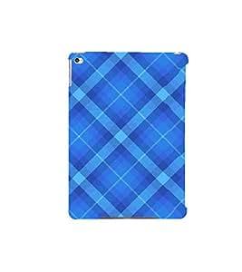 FUSON Blue Fabric Pattern 3D Hard Polycarbonate Designer Back Case Cover for Apple iPad Air 2 :: Apple iPad Air 2 Wi-Fi + Cellular (3G/LTE) :: Apple iPad Air 2 Wi-Fi (Wi-Fi, w/o GPS)