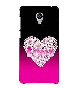 FUSON Love In Heart Designer Back Case Cover for Meizu M2 Note :: Meizu Note 2