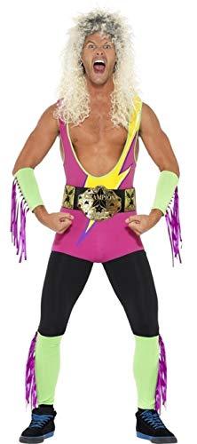 Pro Wrestler Kostüm - Herren 1990s 90s Jahre Retro