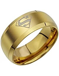 SUPERMAN Stylish Gold Ring for Men and Boys