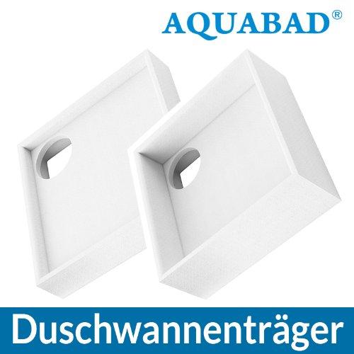 AQUABAD® Universal Duschwannenträger Styroporträger Wannenträger Duschwanne Quadratisch 80 x 80 x 14 cm