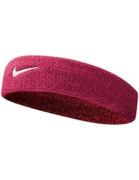 Nike Swoosh Head Bands cinta, todo el año, unisex, color rosa/blanco, tamaño talla única