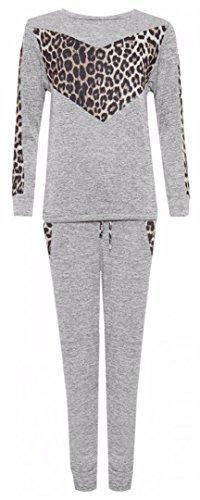 FK Styles Damen Anzug Für Leopard Trim Druck Rex Trim