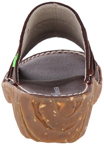 El NaturalistaYGGDRASIL - Ciabatte Donna Marrone (marrón - Brown (Brown))