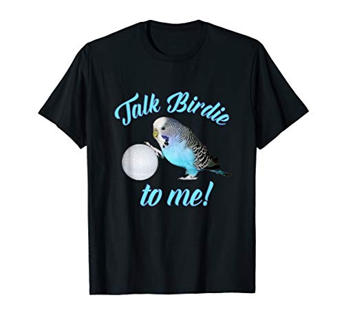 Geburtstag Golf Shirt (Sprich Birdie mit mir Wellensittich Sittich Golf TShirt)