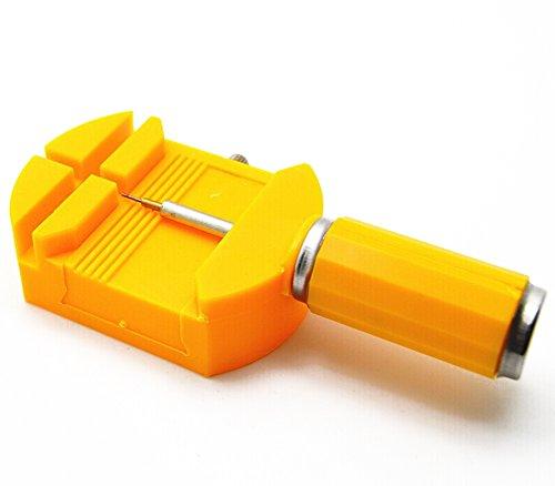 Hosaire 1x Uhrmacherwerkzeug Gelb Uhrenarmband Strap Kettenbolzen Remover Reparatursatz Werkzeug Stiftausdrücker für Uhrmacher