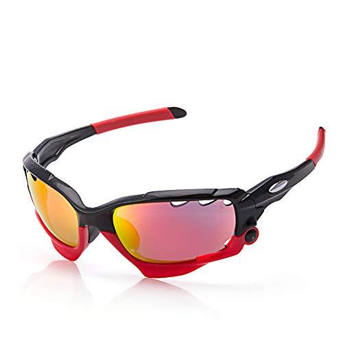 Z.L.F Brille Motorradbrillen Sportbrillen Männer und Frauen für Radfahren, Angeln, Jagd (Color : Rot, Size : One Size)