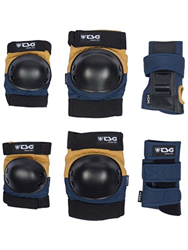TSG Erwachsene Junior-Set Schützer, Night Blue-Dusk Yellow, one Size