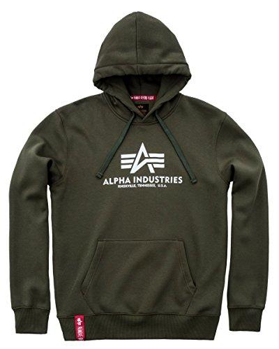 Alpha Industries Basic Hoodie Oliv M