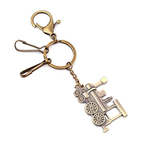 YeahiBaby Zug Schlüsselring Metall Schlüsselanhänger Cool Auto Schlüsselanhänger Handtasche Anhänger Dekoration Creative Geschenk Schlüsselanhänger (Grün Patina)