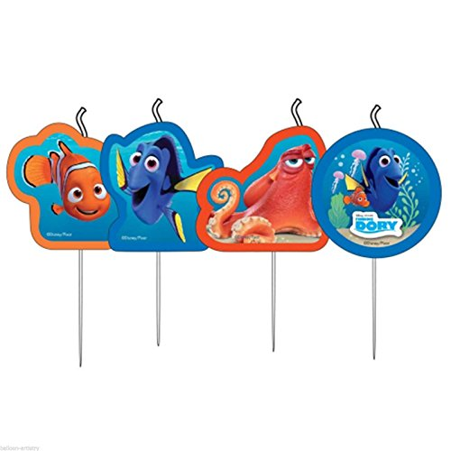 amscan- Finding Dory Disney Bougies Anniversaire, 9900962
