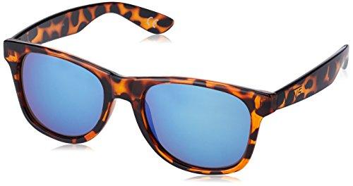 Vans Herren Sonnenbrille SPICOLI 4 SHADES, Braun (TRANSLUCENT HONEYTORTOISE-ROYAL BLUE MIRROR M67)