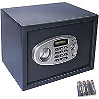 Display4top Caja de seguridad electrónica – negro (35 x 25 x 25 cm)