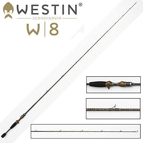 Westin W8 Vertikalrute Vertical Jigging-T 190cm XH 28-52g , Angelrute zum Spinnfischen, Ruten für Barsche, Hecht, Zander & Forellen, einteilige Spinnrute zum Vertikalangeln