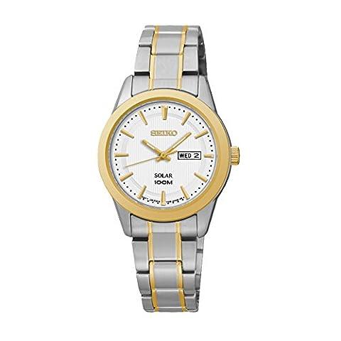 Seiko SUT162P1 Solar - Wristwatch Women's, Stainless Steel, Band Colour: