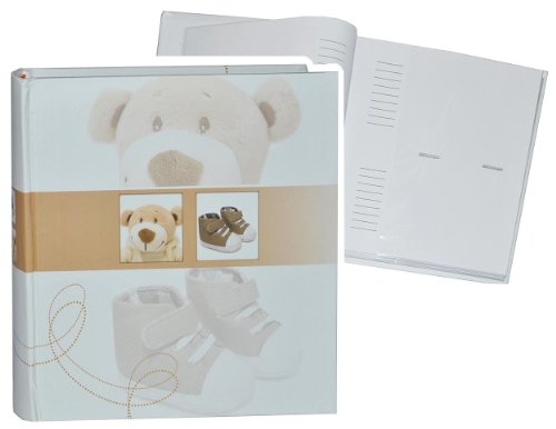 Einsteckalbum Baby erste Fotos - Füße braun - Gebunden zum Einstecken - groß für bis zu 200 Bilder - Fotoalbum / Fotobuch / Photoalbum / Babyalbum / Album - f..