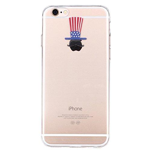 Ukayfe iphone 6 Copertura, Serie di Natale Custodia Ultra Slim Morbido TPU Gel Silicone Protettivo Skin Protettiva Shell Case Cover per Apple iPhone 6/6S (4.7 pollice ) Con Stilo Penna - Bianco neve Tappo creativo mela