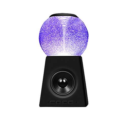 qiyanCreative Colorful Crystal Ball Altavoz portátil inalámbrico Bluetooch Soporte de luz Colorida...