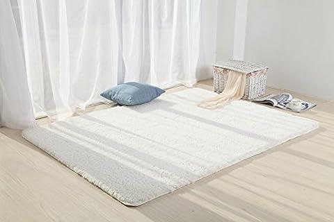 Teppiche, CAMAL Waschbarer Velvet Teppich für Wohnzimmer und Schlafzimmer (80cmX120cm, Milchweiß)